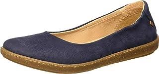 El Naturalista 女式 N5300 愉悦海洋/珊瑚封闭趾芭蕾平底鞋