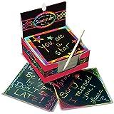 Melissa & Doug 美国玛莉莎 彩虹色迷你笔记刮擦艺术盒 艺术&工艺 木制尖笔 125件 约 9.53cm高 x 9.53cm宽 x 44.45cm长