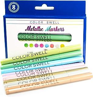 Color Swell 金属色记号笔(每包 8 个记号笔)适用于所有类型的艺术家