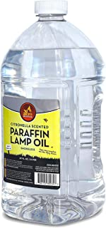 香茅香型灯油 - 无烟、无异味昆虫和驱蚊石石石蜡灯油,适用于室内和室外灯笼、手电筒、蜡烛 - Ner Mitzvah 出品 67 Ounces (2 Liters)