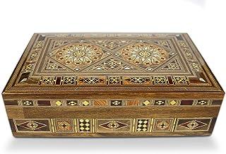 Elessar 首饰盒木盒,盒子,盒子,马赛克艺术品,收纳 31 x 20 x 9,5 cm 11-31