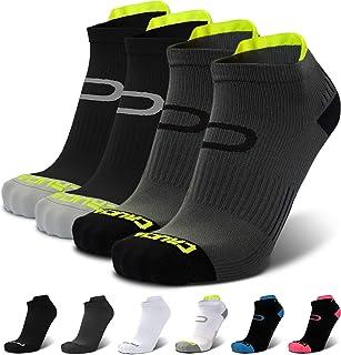 男式和女式压缩跑步袜 - 低帮运动短袜(2 双)