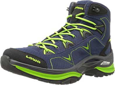 LOWA Boots女士 Ferrox Goretex 中邦 — 女士 系带 Denim/Lime 6.5 B(M) US