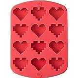 rosanna pansino 来自 Wilton 硅胶心形糖果模具,12模槽