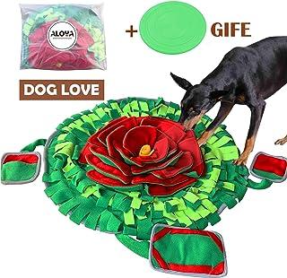 ALOYA 狗狗响脚垫,狗狗拼图玩具,适用于无聊互动宠物小号大型食物分配饲料游戏玩具狗狗*室内(花 XL)