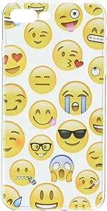 Amzer 软凝胶设计师表情符号图案 TPU 超薄手机壳,适用于 Apple iPhone 8 PlusAMZ203089 Mixed Emotions