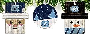 FC NCAA 北卡罗来纳州 Tar Heels 3 件套木质装饰品套装