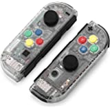 BASSTOP DIY Replacement Housing Shell Case Set for Switch NS NX Console and Right Left Switch Joy-Con Controller without Electronics Joycon-Matte Clear
