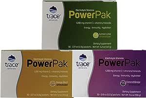 Trace Minerals Research 电解耐力装 3 盒组合,柠檬绿、橙色和葡萄色。 90 份