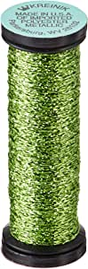 Kreinik No.4 Very Fine Metallic Braid, 11m, Chartreuse