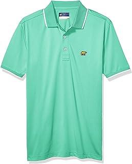 Jack Nicklaus 男式短袖纯色 Polo 衫,带罗纹和袖口镶边