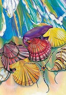 托兰 家居花园海滩蹦床 31.75 x 45.72 cm 装饰海洋海浪沙铃花园旗帜