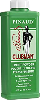 Clubman Pinaud Finest Talc Powder, 9 Ounce (Pack of 6)