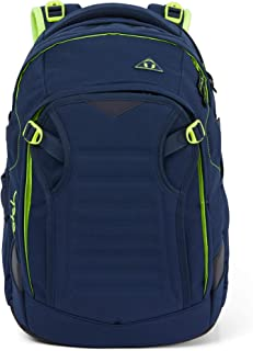 Satch Match,符合人体工程学的书包,可扩展至35升,额外的前袋 Dark Blue Neon Yellow one size