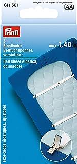 Prym 611 561 弹性床上用品横幅,可调节,3 件 白色 100 cm x 200 cm 611 561
