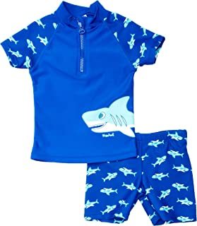 Playshoes * 2 件套鲨鱼男童游泳短裤