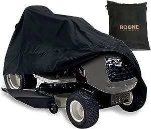 骑着割草机罩 - 防水草坪拖拉机罩罩 - 适合*大 137.16 cm 的甲板 - 黑色