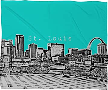 "Deny Designs Bird Ave St Louis Aqua 羊毛毯 蓝色 3'4"" x 2'6"" 13614-flesma"