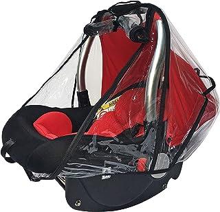 Baby & Beyond's 汽车座椅防雨罩,通用汽车座椅防雨和防风罩,雨罩具有快速拉链门和侧面通风功能