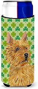 Caroline's Treasures SS4430-Parent Norwich Terrier 圣帕特里克节三叶草肖肖像超饮隔热器适用于纤薄罐 SS4430MUK,多色 多种颜色 Slim SS4430MUK