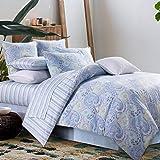 羽绒被套套件佩斯利涡旋纹花呢床上用品设计800支100% 棉3件套