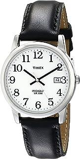 Timex 天美时男士易读日期皮革表带手表