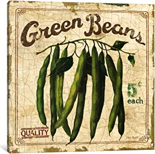 iCanvasART 9099-1PC6-12x12 Green Beans Canvas Print by Lisa Audit, 1.5 by 12 by 12-Inch