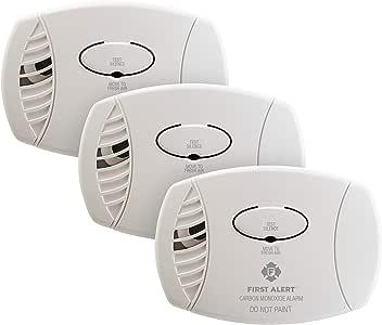 First Alert CO600 Plug in Carbon Monoxide Alarm (3 Pack)