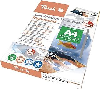 Peach PP580-22 高速层压膜 片片 片 片 DIN-A4 AT 2 x 80 mic AX 100 层压片 片 片 片 片 片 片 片 光滑 片 与所有品牌厂商的层压器兼容