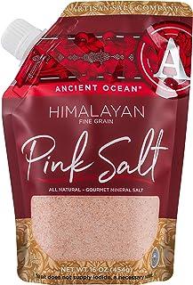 SaltWorks 远古海洋 喜马拉雅粉红盐,精制,工匠倒嘴袋,16盎司/454克