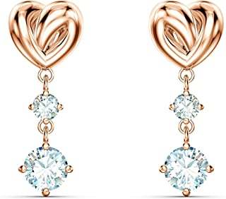 Swarovski 施华洛世奇 女式白色玫瑰金色电镀 Lifelong 心形 耳环 5517942