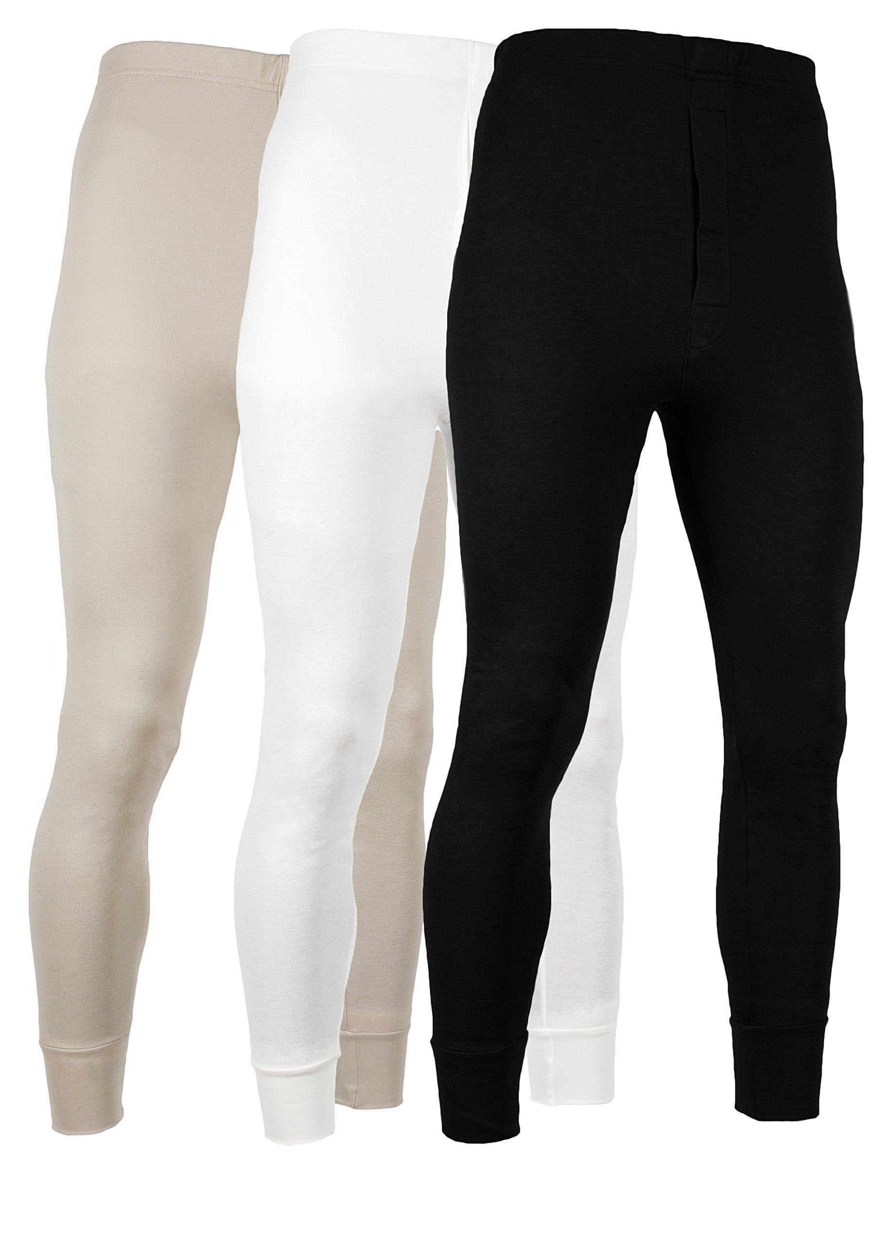 AMERICAN ACTIVE男性用パンツ暖かいレギンス綿ウールライニング*パンティー--- 3個