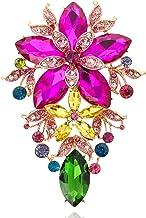 SP Sophia Collection 女士多色宣言奧地利水晶多層雛菊吊墜胸針