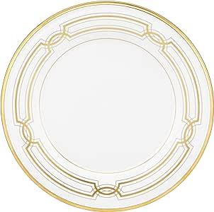 Lenox 永恒的白金骨瓷 5 件套餐具套装 白色 Accent Plate 855337L