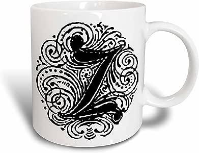 3dRose Fancy Letter Z Ceramic Mug, 15-Ounce