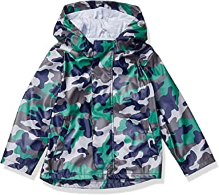 Amazon Brand - 斑点斑马男孩幼童和儿童雨衣外套