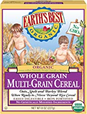 Earth's Best 全麦多种谷物粉 8盎司(227克)(12包装)(包装随机发货)
