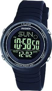 PASNEW Digital 聚氨酯 黑色 Zelan-PSE445G-N1 watches
