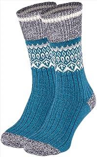 女式圣诞彩色假日羊毛船袜