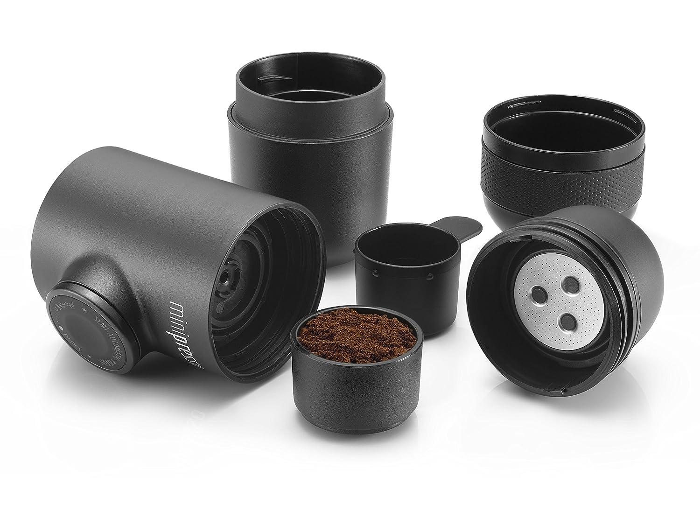 Wacaco Minipresso GR+CASE 便携式浓缩咖啡机套装(咖啡机+专用保护套) 适用于咖啡粉