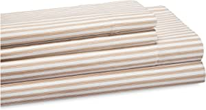 Elite Home 种植条纹床单套装 灰褐色 全部 XGR-124