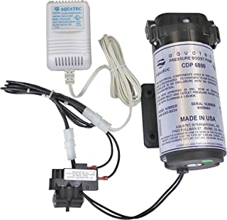 Aquatec 6800 增压泵套件,适用于*多 100 GPD 家庭 RO 反渗透水过滤器系统,标准或歧管,包括泵、压力开关 PSW-240、变压器、6840-2J03-B224 B221 美国制造