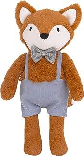 NoJo Ayden 蓝色、棕色和白色毛绒狐狸和衣服,蓝色、棕色、灰色、白色