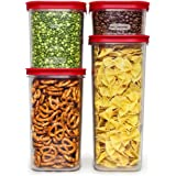 Rubbermaid Modular Dry Food Storage Zylar 4-Container Set