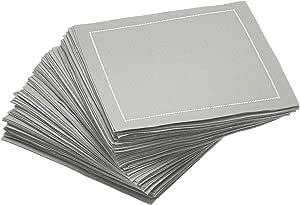 Signature Napkins 可重复使用 * 纯棉鸡尾酒餐巾,100 片装 灰色 100-Pack CO11-301/PW140