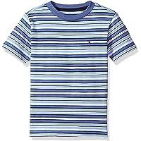 TOMMY HILFIGER 男孩短袖圆领条纹 T恤