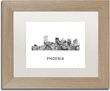 Trademark Fine Art MW0478-T1114MF Phoenix 亚利桑那天际线 WB-BW Marlene Watson 11x14 MW0478-T1114MF