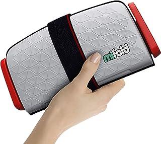 mifold grab-and-go 汽车增高座椅–紧凑,便携式增高座椅,适合旅行,拼车等–折叠式儿童增高座椅,可放入杂物箱和背包,珍珠银