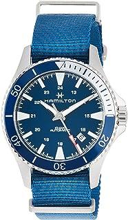 Hamilton H82345941 卡其色*蓝水肺自动男式手表 蓝色 北约尼龙表带