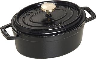 Staub 1101525 椭圆形圆锅,15厘米,哑光黑色